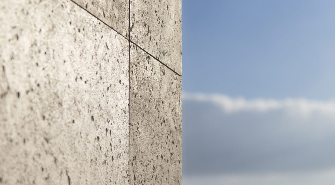 Carea mineral look SHELL, for an organic & mineral facade (wall cladding with or without subframe, weatherboarding)