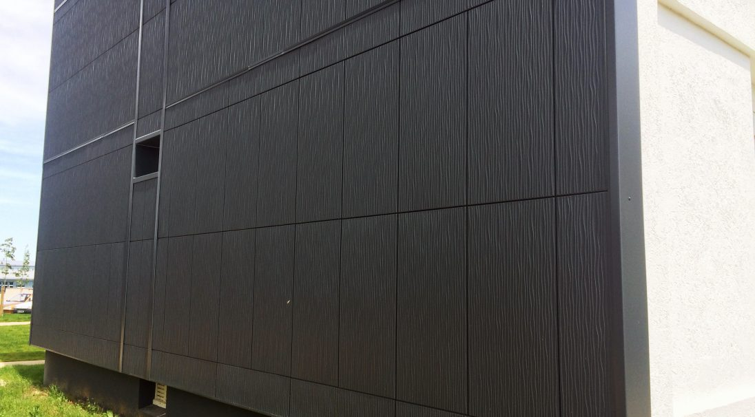 Buzançais housing rainscreen cladding