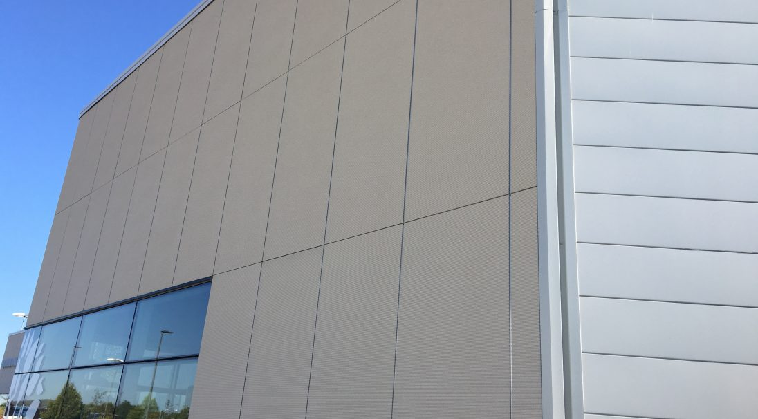 Retail Park mall rainscreen cladding