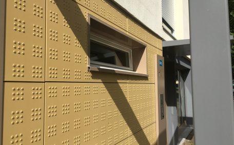 Social housing rainscreen cladding, rehabilitation