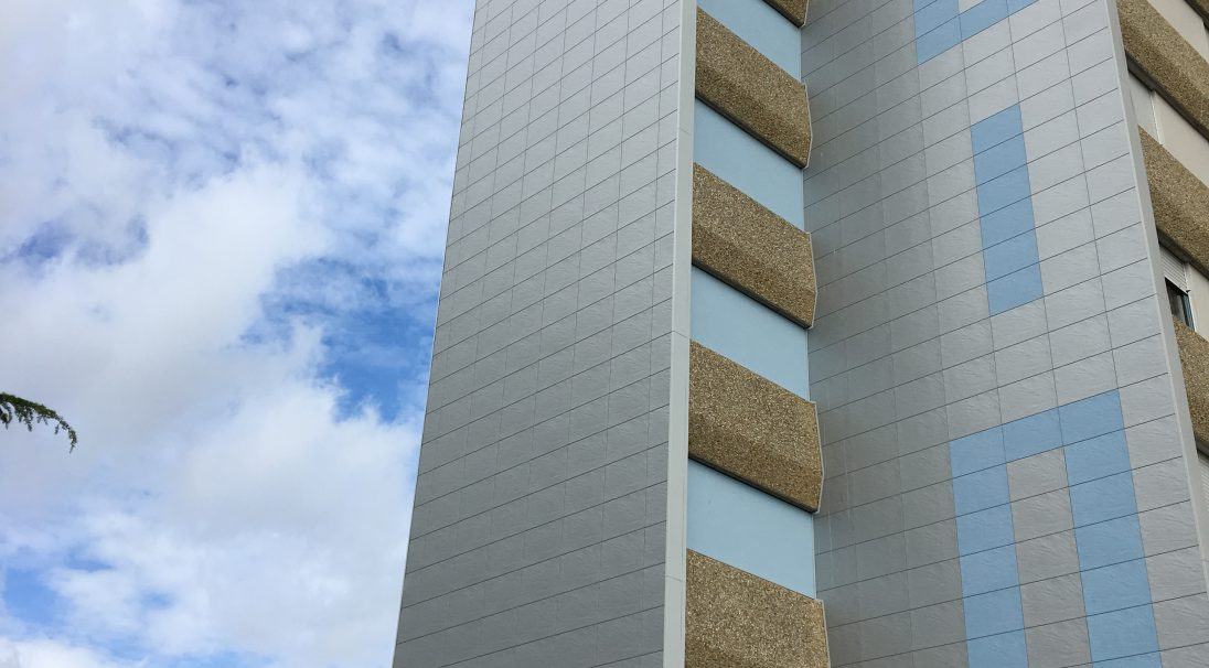 """Cité des Demoiselles"" housing blocks rainscreen cladding"
