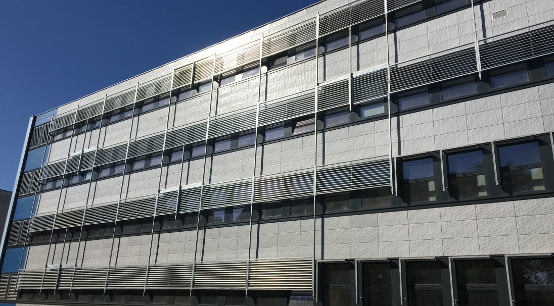 Poitiers University rainscreen cladding