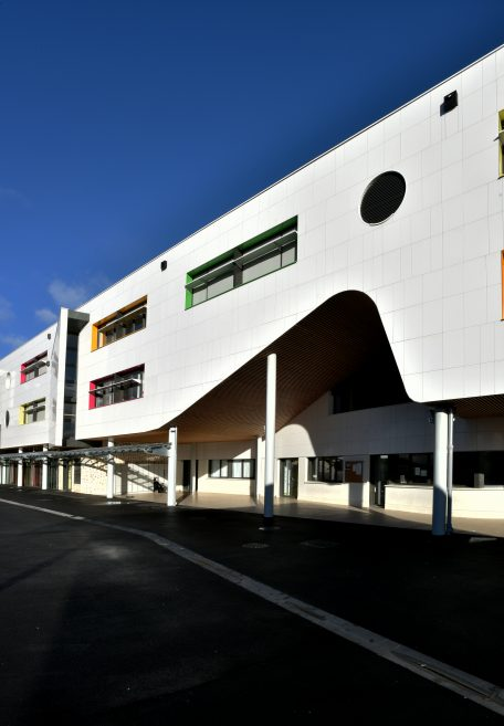 Chevilly-Larue Liberté secondary school rainscreen cladding