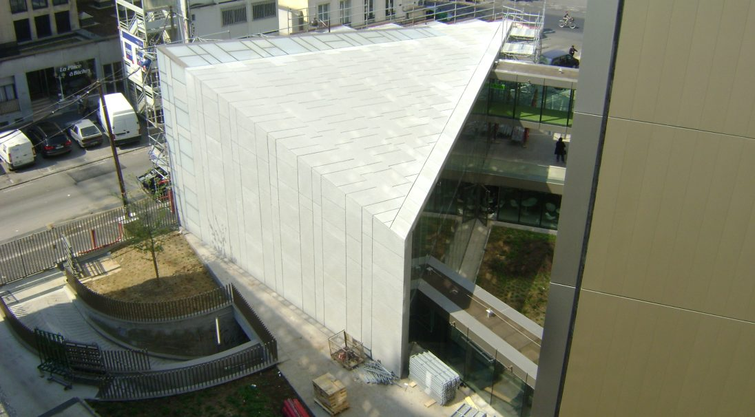 RMN head office rainscreen cladding