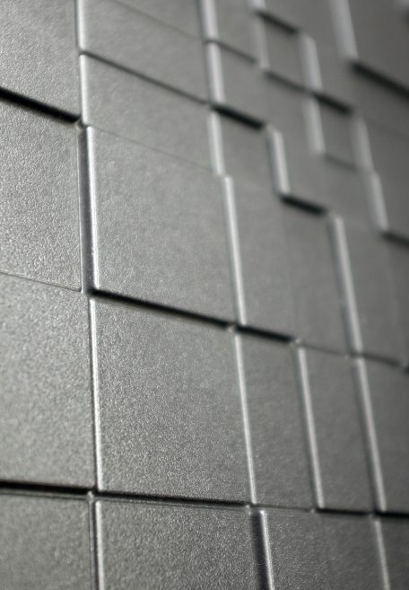 Carea mineral look GRAF 100 & GRAF 200, for an urban & graphic facade (wall cladding with or without subframe, weatherboarding)