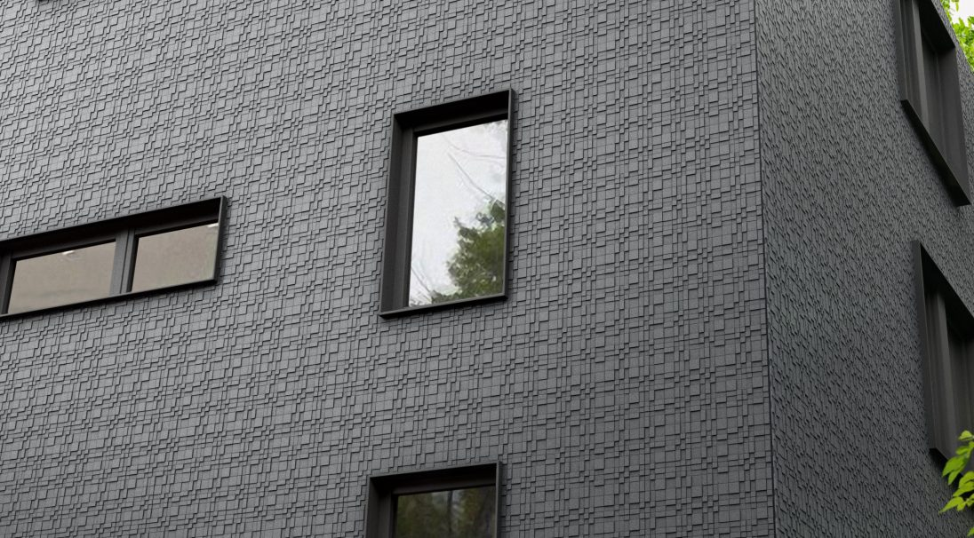 Construction type: new build,  Installation system: wall cladding without subframe (CWoS),  Products: GRAF 100 & GRAF 200