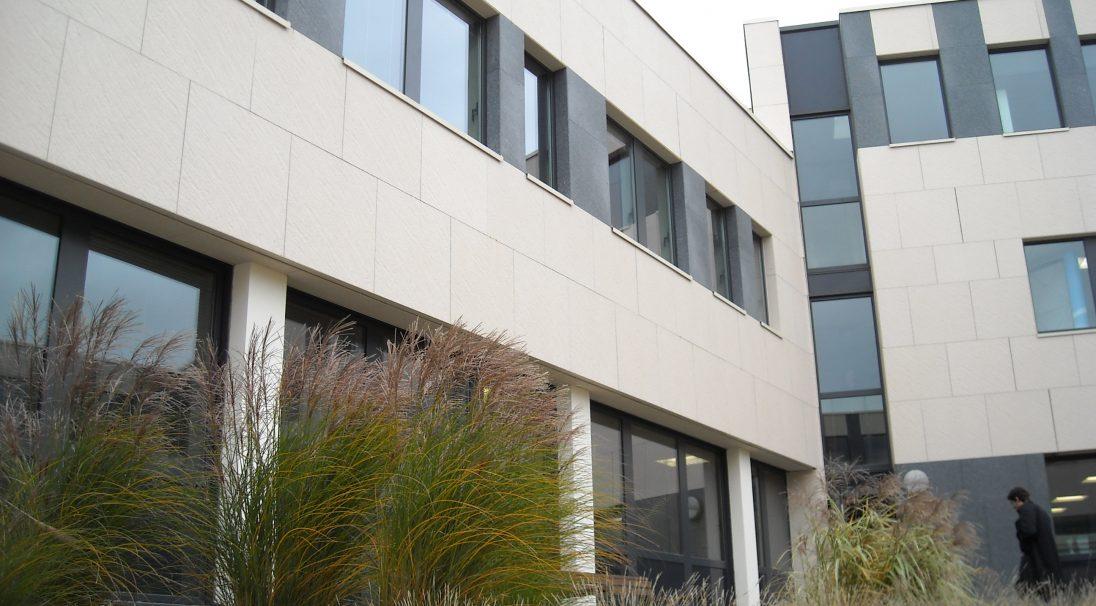 Dijon ZAC Valmy offices rainscreen cladding