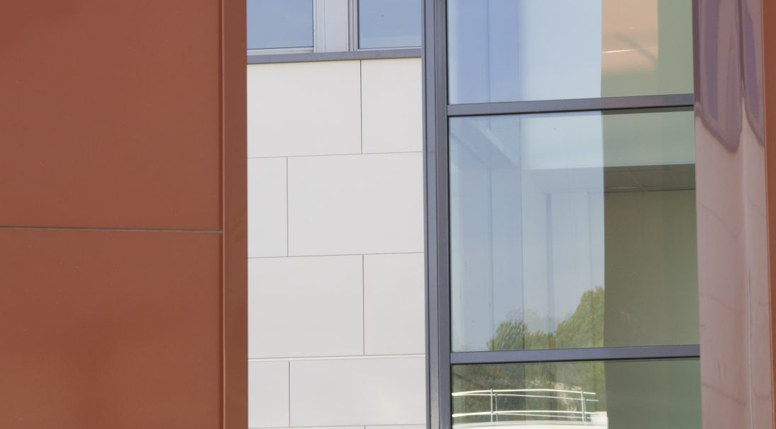 Paul Eluard secondary school rainscreen cladding