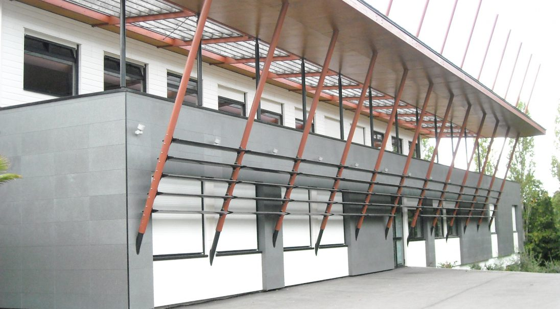 Le Lion d'Angers secondary school rainscreen cladding