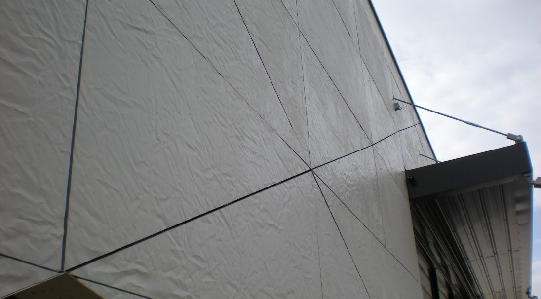 Media library rainscreen cladding