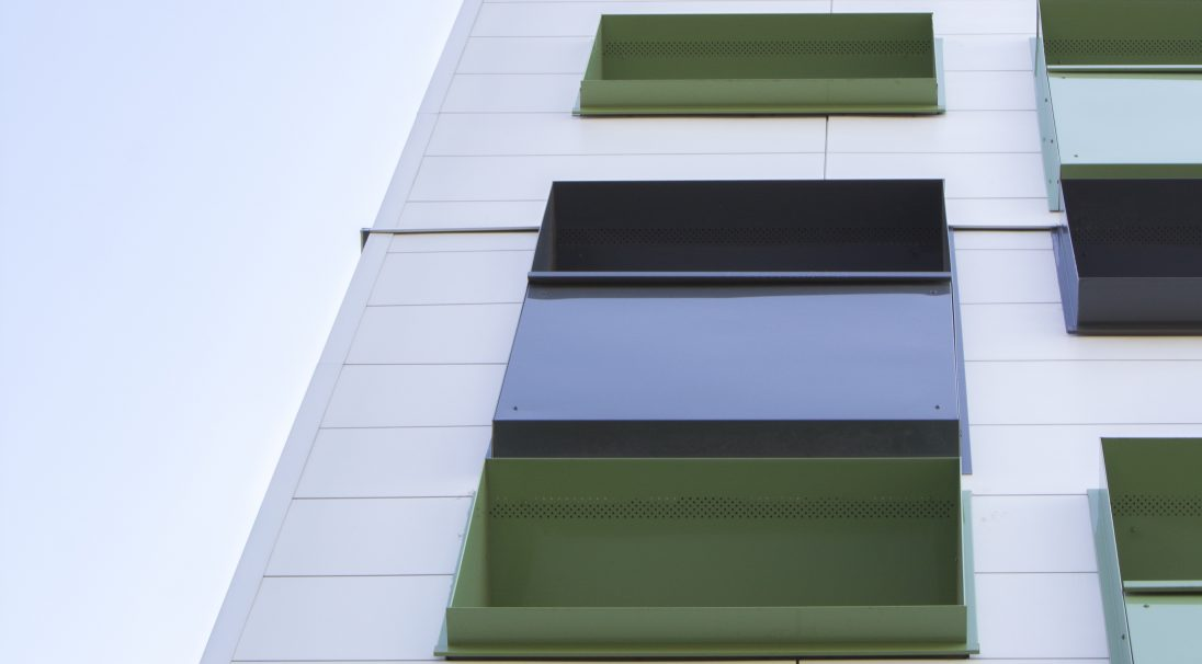 Béthune housing rainscreen cladding