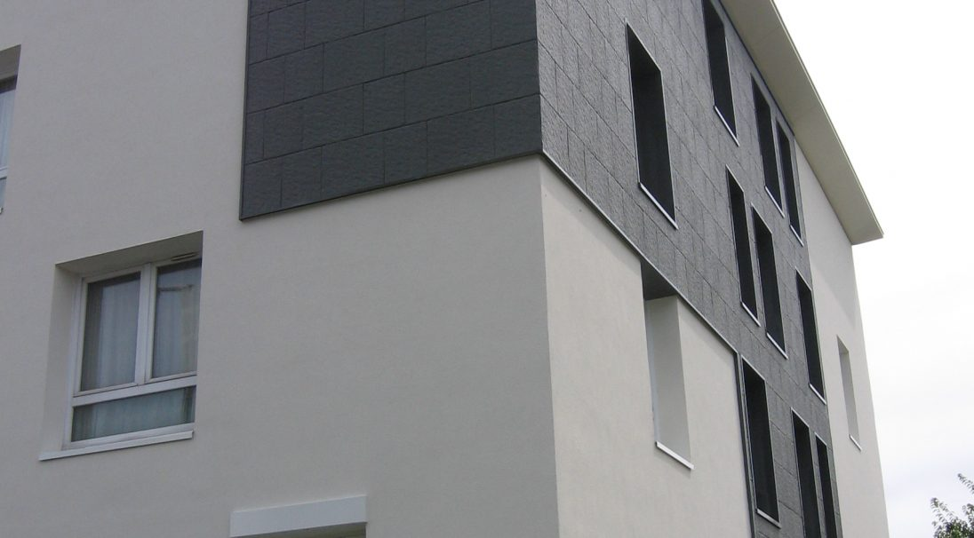 Les Explorateurs residence rainscreen cladding, cladding with subframe (CWS)