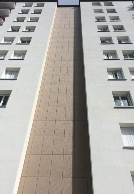 Beauverger tower rainscreen cladding