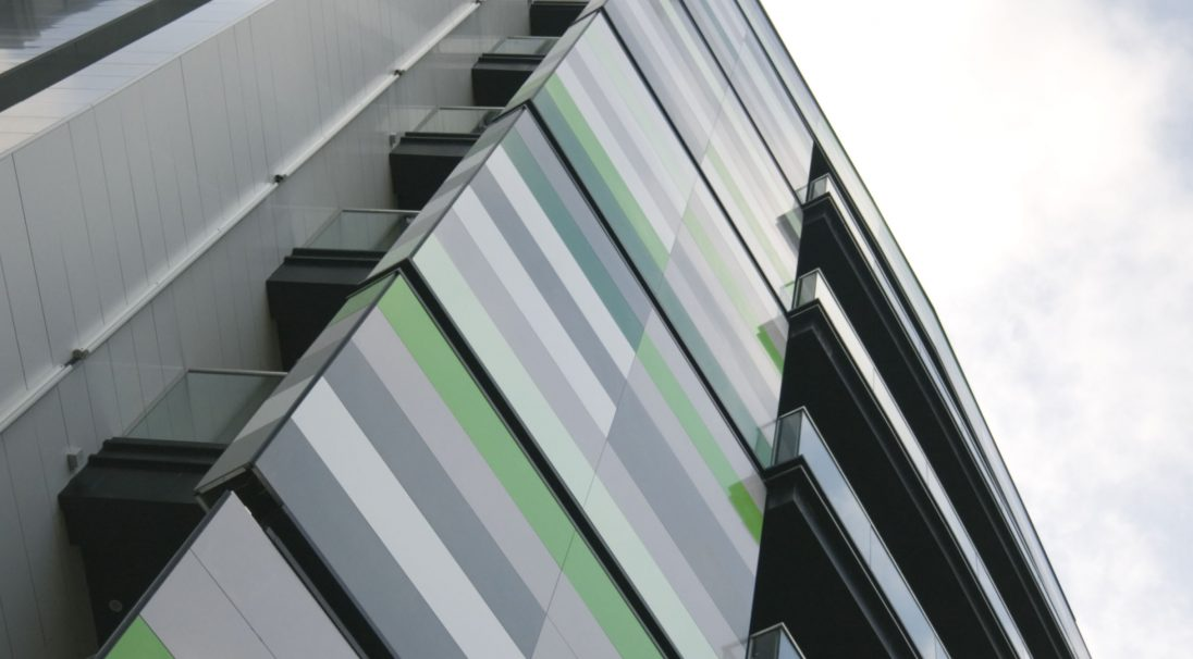 Location: Birmingham,  Architect: AEW Architects,  Construction type: new build,  Installation system: wall cladding with subframe (CWS),  Product: GLOSSY