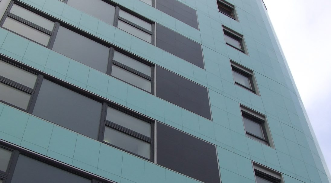 New Gateway building rainscreen cladding