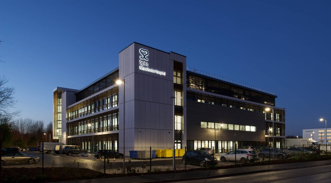 Manchester Spire Hospital rainscreen cladding