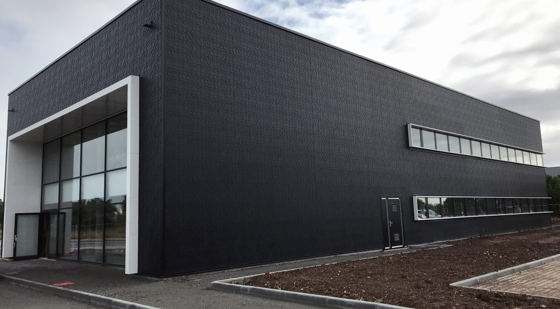 Banque Populaire office rainscreen cladding