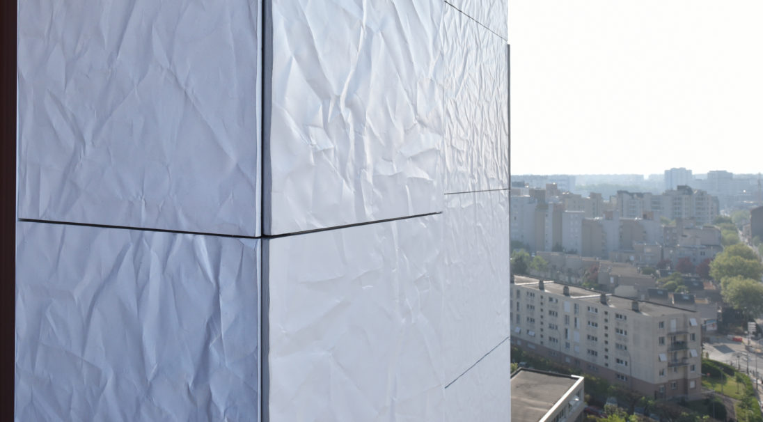 Mourinoux tower rainscreen cladding with subframe