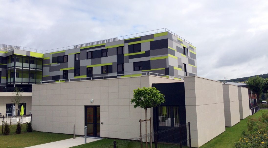 Location: Vernon (France),  Architects: AACD office,  Construction type: new build,  Installation system: wall cladding with backing structure (CWB),  Product: SHELL