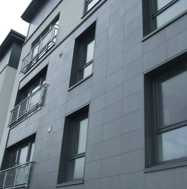 Law Place housing rainscreen cladding