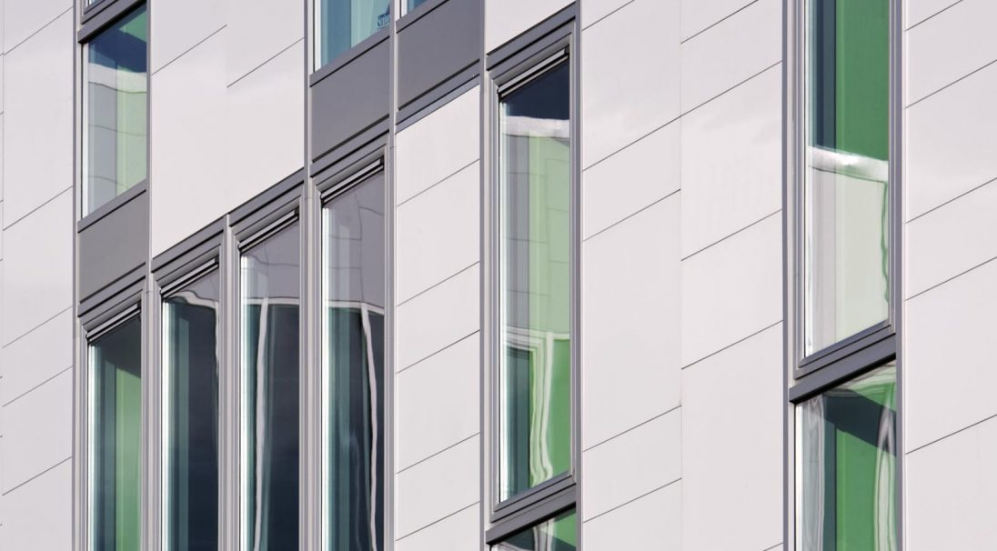 Glasgow College rainscreen cladding