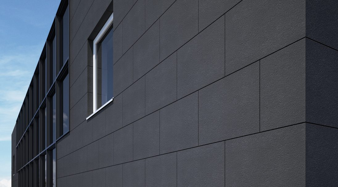 Carea mineral look MAGMA, for a graphic facade (wall cladding with or without subframe, weatherboarding)