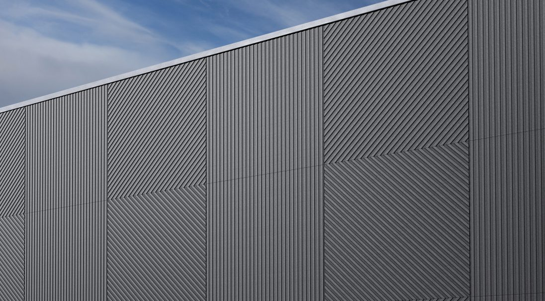 Factory, France, cladding without backing structure (CWB)