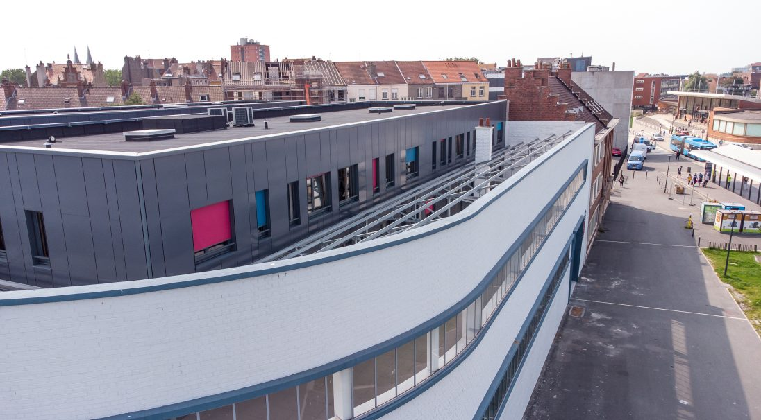 La Turbine, Dunkerque (FR) facade, cladding with backing structure (CWB), Sockeel Architecture